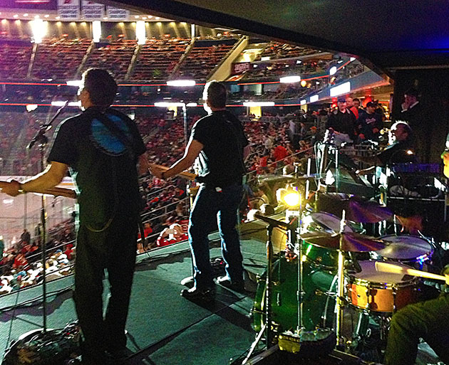 ARCHIVE Performing at the Prudential Center