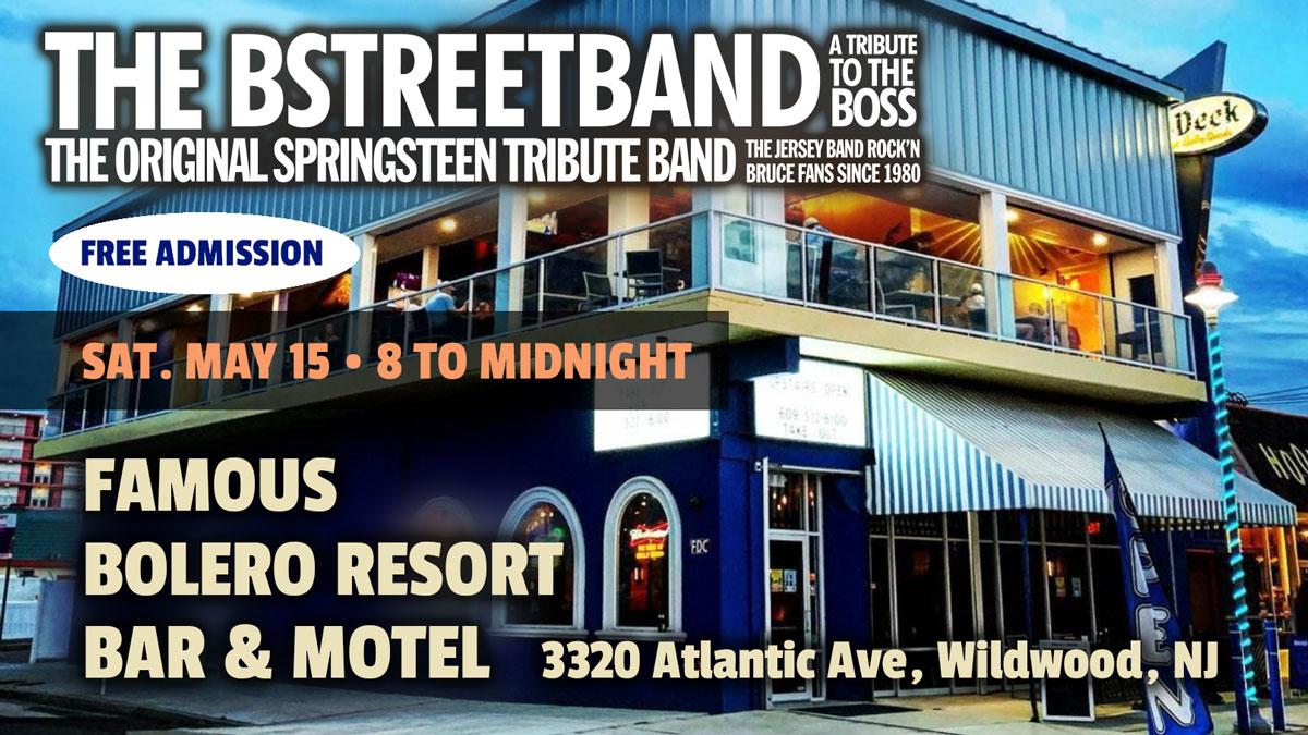 Sat. May 15 – Bolero Resort Bar Motel, Wildwood, NJ