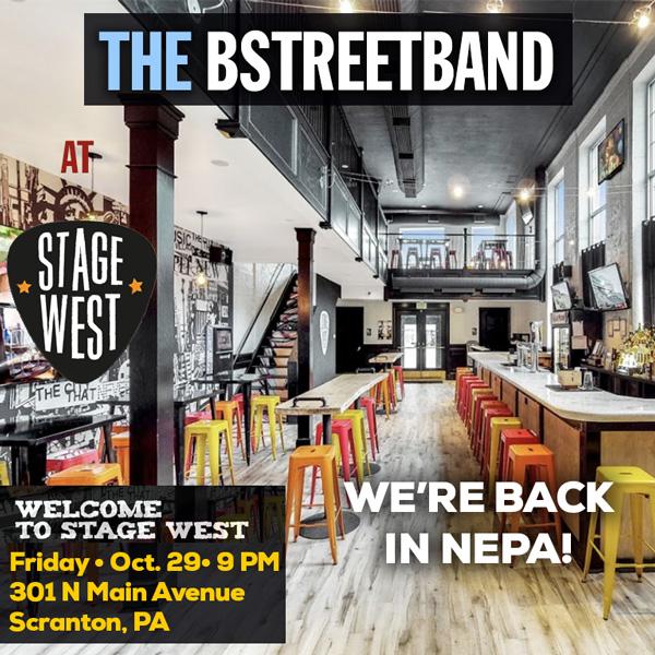 "Fri. Oct 29 -""Stage West"" Main Street, Scranton PA"