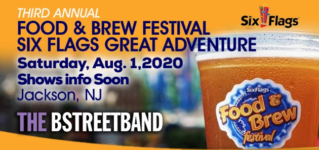 *Postponed till 2021* Sat August 1 – Six Flags Great Adventure Food & Brew Festival