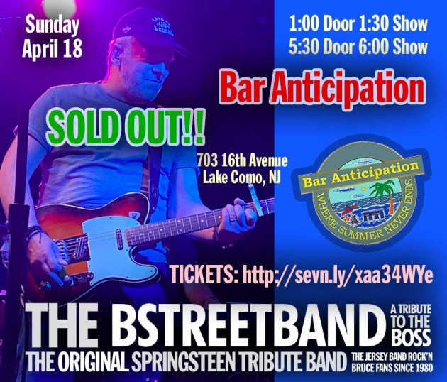 SOLD OUT! Sun. April 18 – Bar Anticipation – 2 Shows!